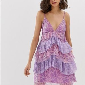 ASOS purple shimmer dress
